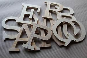 Lettre En Bois A Poser : lettres murales industries 20cm en bois naturel pr noms en bois plaque de porte ~ Teatrodelosmanantiales.com Idées de Décoration