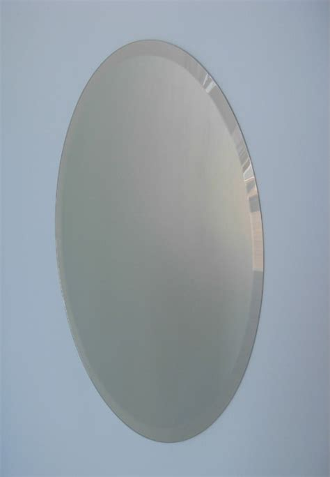 bevelled oval mirror trendy mirrors