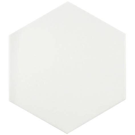 home depot merola hex tile merola tile textile hex white 8 5 8 in x 9 7 8 in