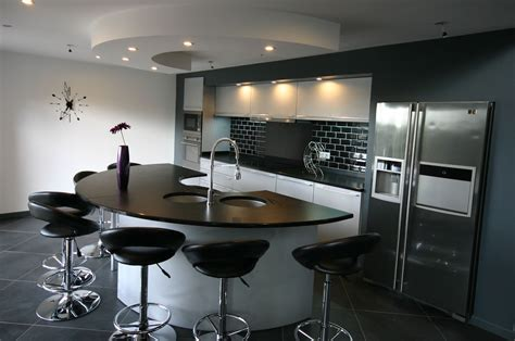 cuisines as cuisine arrondie en laque par meubles jem