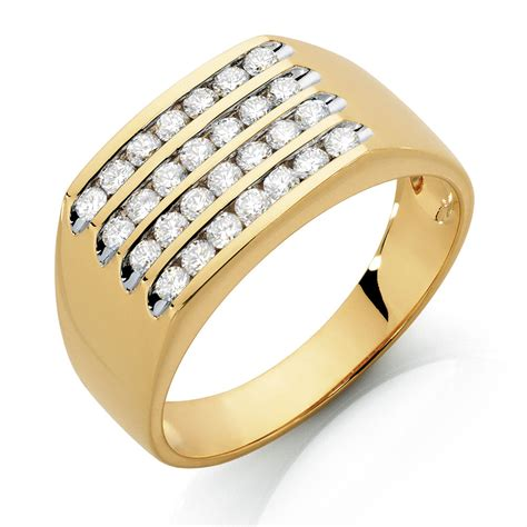mens ring   carat tw  diamonds  ct yellow gold