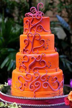 coral  orange cakes images beautiful cakes