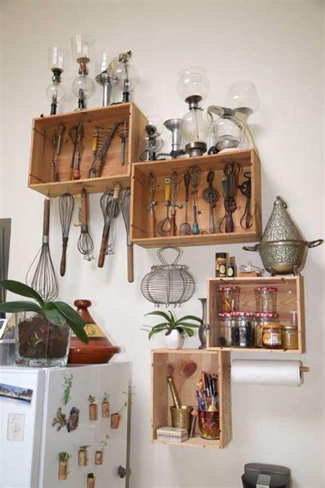 idee etagere cuisine caisse vin récup recyclage cuisine étagère idées
