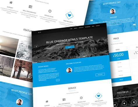 company onepage website templates 2016 blue onepage business html5 template readytheme