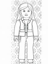 Coloring Pages American Julie Doll Printable Drawing Getdrawings Drawings Getcolorings sketch template