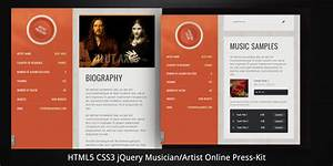 musician artist html5 online press kit by virtuti With band epk template