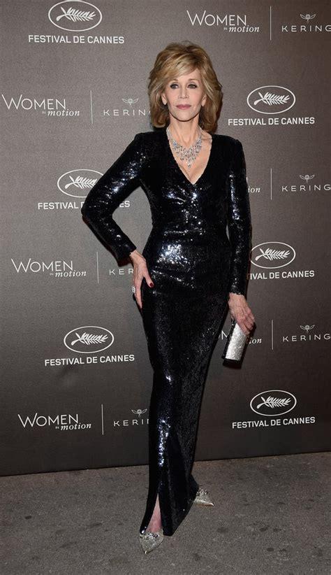 jane fonda  dresses  cannes film festival  popsugar fashion photo