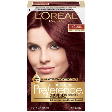 loreal  warmer dark auburn hair color  kt box beauty