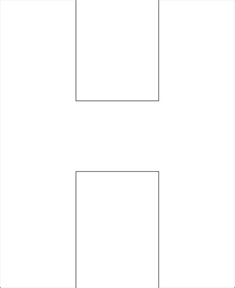 letter h template free printable alphabet template