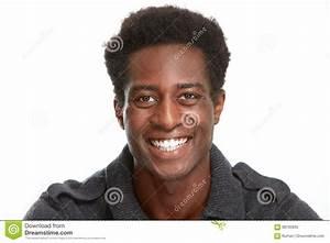 Happy black man smile. stock image. Image of content ...