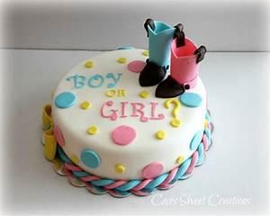 Gender Reveal Cake - CakeCentral com