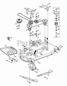 Cub Cadet Parts On The Mower Deck 46
