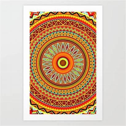 Aztec Mandala Pattern Prints Society6 S6