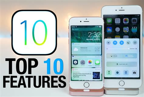 Top 10 iOS 10 Features - What's New Review - YouTube