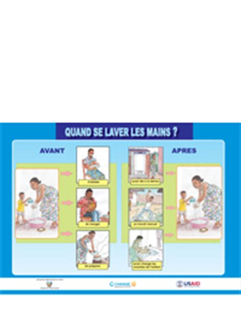 Watsan Poster When Do You Wash Your Hands? (pdf In French
