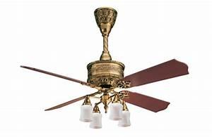 Casablanca 19th Century 54 U0026quot  Burnished Brass Ceiling Fan