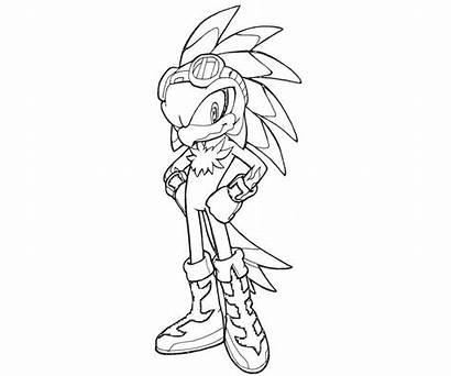 Sonic Jet Coloring Hawk Colorir Printable Desenho