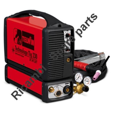 telwin spare parts for inverter welding technology tig 230 dc hf lift