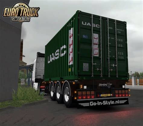 container trailer  rhinod   ets mods