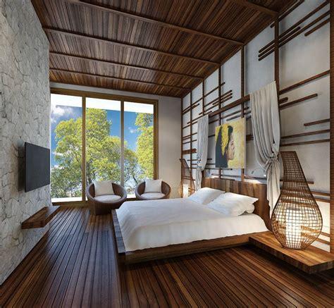 desain interior kamar tidur  kayu