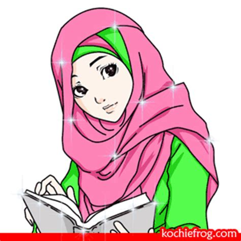 Wanita Dewasa Jatuh Cinta Gambar Dp Bbm Animasi Muslimah Bergerak Terbaru Kochie Frog