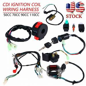 Cdi Wire Harness Stator Assembly Wiring Set For Electric