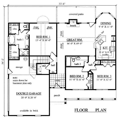 floor plans 1500 sq ft 1 500 sq ft house plan quot love grows best in little houses quot pint