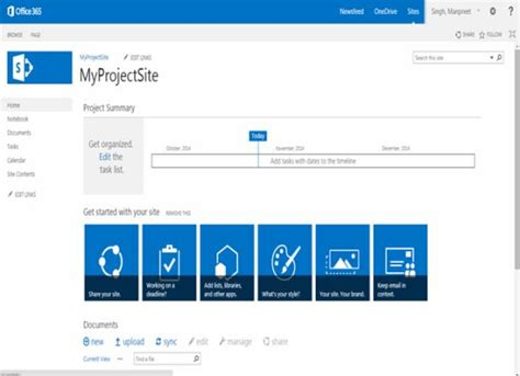 sharepoint site templates site templates part 3 project site in sharepoint 2013 and office 365
