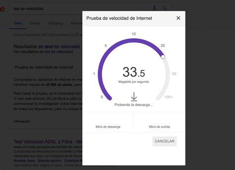 test de velocidad  internet de google