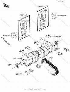 Kawasaki Motorcycle 1985 Oem Parts Diagram For Crankshaft