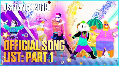 Just Dance 2019 Official Song List  Part 1 [us] Youtube