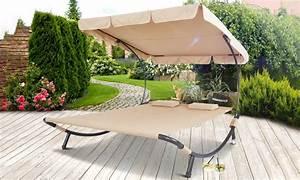 Doppel Gartenliege Mit Dach : doppel sonnenliege inkl kissen groupon ~ Bigdaddyawards.com Haus und Dekorationen