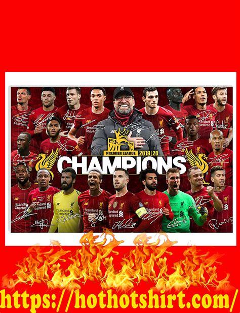 Liverpool champions premier league 2020 signature poster