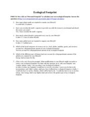 ecological footprint worksheet with answers footprint calculations help us