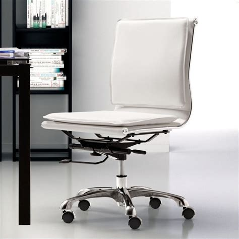 crboger armless white office chair modway ripple