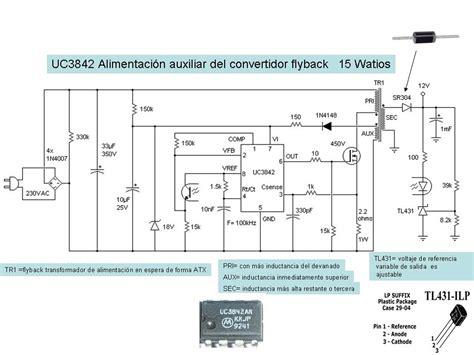 electr 243 nica diagrama fuente conmutada con uc3842 8 pines electricidadad y electronica en 2019