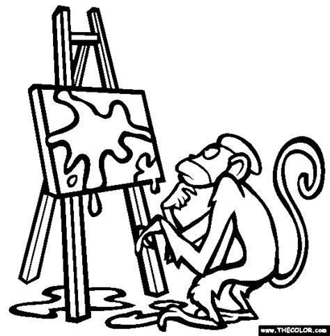 easel page coloring pages
