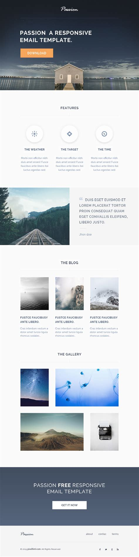 responsive html template 25 best newsletter email templates for free updated for 2018 365 web resources