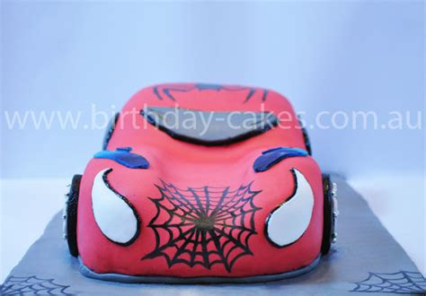 spiderman car birthday cake