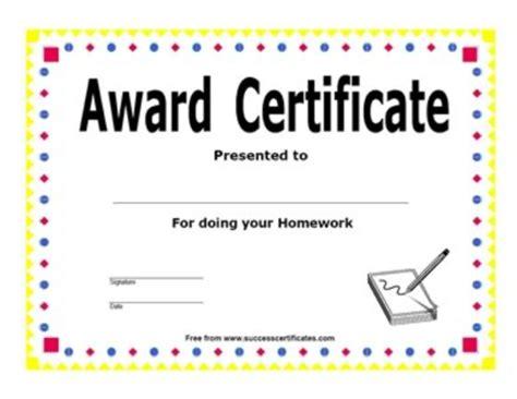 certificate  completion  homework certificate