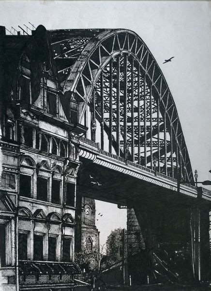 tyne bridge newcastle ink drawing sketchesdrawings