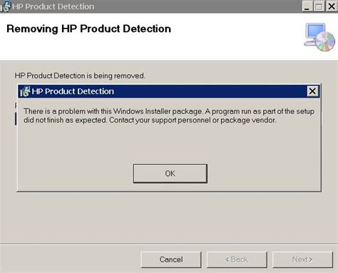 Unable To Uninstall Product Detection Software