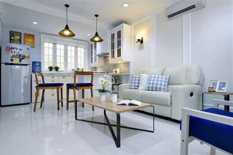 desain interior ruang keluarga menyatu  dapur terbaru
