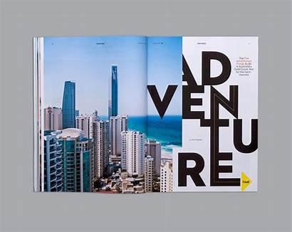Magazine Layout Behance Layouts Word Adventure Travel