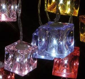 Guirlande Led Interieur : guirlande lumineuse int rieur led cubes glac s ~ Preciouscoupons.com Idées de Décoration