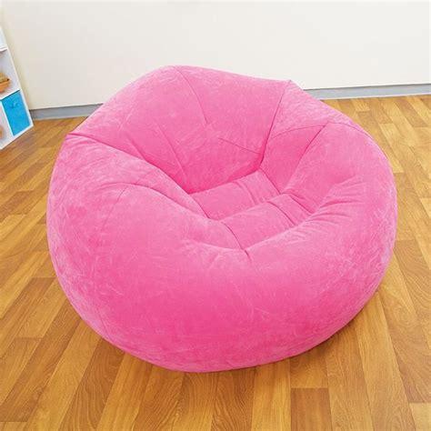 poire siege pouf siège fauteuil gonflable design et coloré fushia
