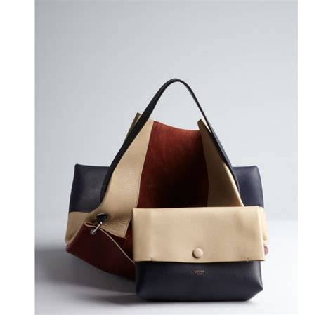 c 233 line beige bordeaux and navy colorblocked leather