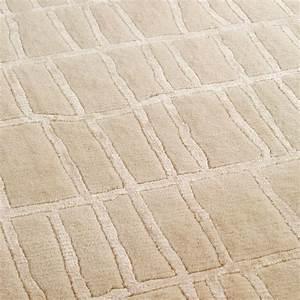 Tapis en laine beige bali noue main angelo 250x350 for Tapis laine beige