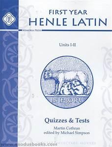 Henle First Year Latin Units I  U0026 Ii