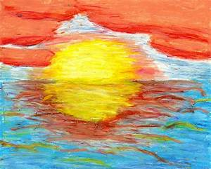 Image Gallery oil pastel sunset